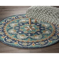 LR Home Hand Tufted  Dazzle Teal/ Blue Wool Rug