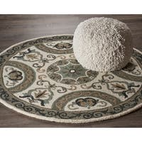 LR Home Hand Tufted  Dazzle Ivory/ Gray Wool Rug