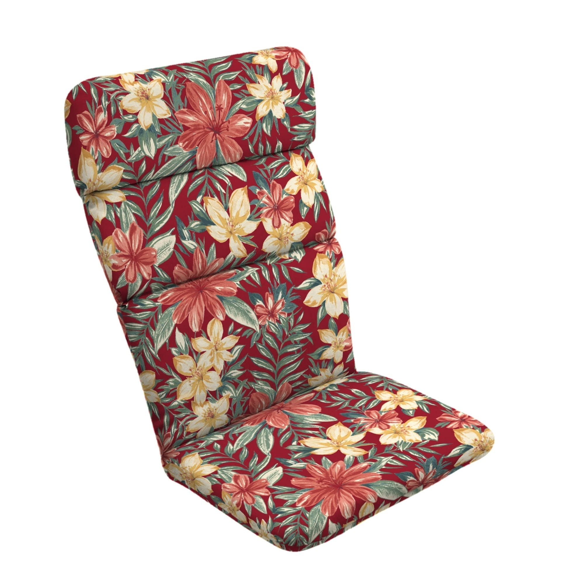 Arden Selections Ruby Clarissa Tropical Chaise Cushion Red