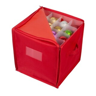 Simplify 64 Count Stackable Christmas Ornament Storage Box