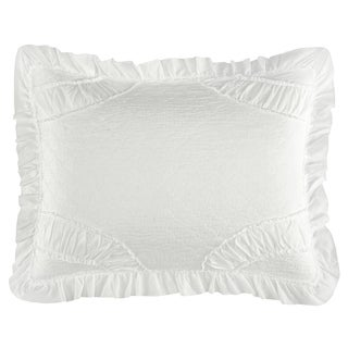 Chic Home Lesley 1 Piece Pillow Sham 100% Cotton Ruched Ruffled