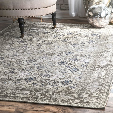 Copper Grove Sarajevo Brown Classic Faded Medallion Area Rug
