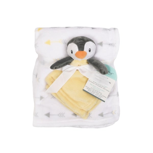 Baby's First--2 Piece Set Blanket & Buddy Set (Neutral) Penguin