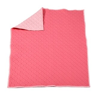 Baby's First-- Quilted Blanket Pink