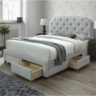 Link to Copper Grove Pogradec Tufted Storage Bed Similar Items in Bedroom Furniture