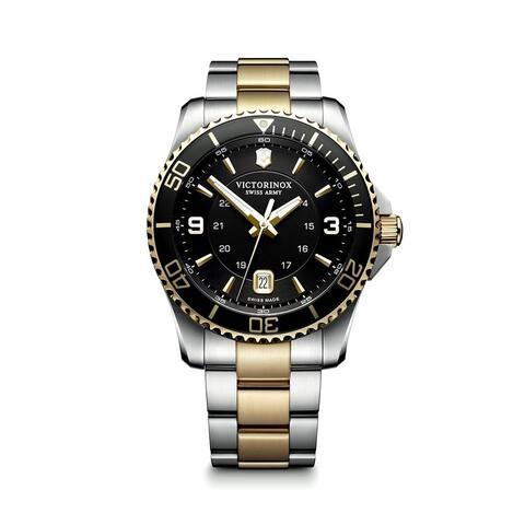 Victorinox Maverick Black Dial Stainless Steel Bracelet Men's Watch 241824