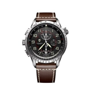 Victorinox Airboss Black Dial Chronograph Automatic Men's Watch 241710