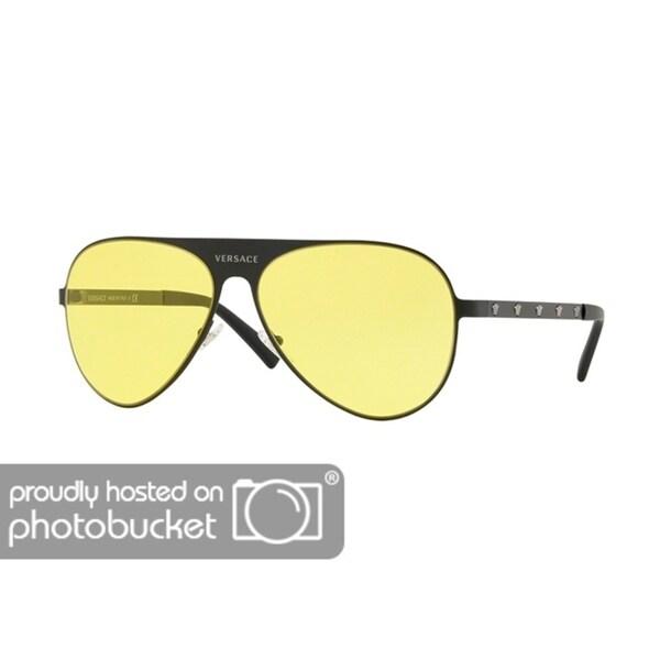 109a3cda9b42 Shop Versace VE2189 Unisex Matte Black Frame Yellow Lens Sunglasses - Free  Shipping Today - Overstock - 25416267