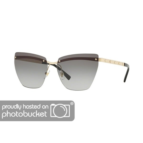 c0d0f1a5e08b Shop Versace VE2190 Woman Pale Gold Frame Grey Gradient Lens Sunglasses -  Free Shipping Today - Overstock - 25416295