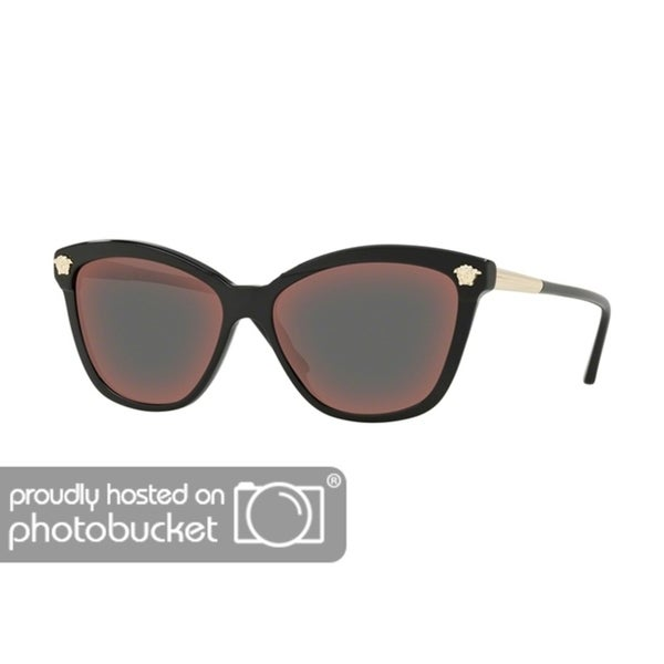 aaf07cdcca Shop Versace VE4313 Woman Black Frame Dark Grey Mirror Red Lens Sunglasses  - Free Shipping Today - Overstock - 25416301