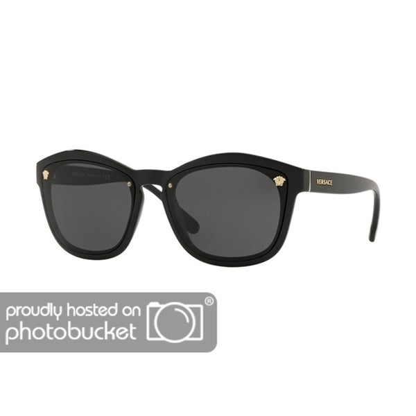 9593bf0025 Shop Versace VE4350 Woman Black Frame Grey Lens Sunglasses - Free Shipping  Today - Overstock - 25416327