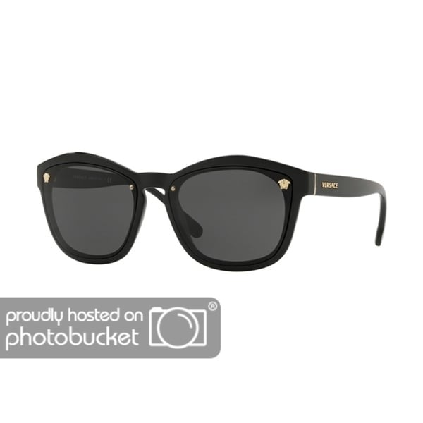 966b72fef203e Shop Versace VE4350 Woman Black Frame Grey Lens Sunglasses - Free Shipping  Today - Overstock - 25416327