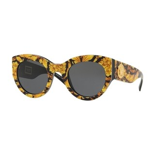 Versace VE4353A Woman Baroque Yellow/Black Frame Grey Lens Sunglasses