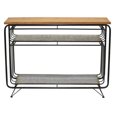 """30"""" Metal Table By Three Hands"""