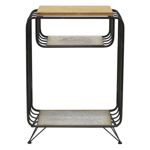 """28"""" Metal Side Table By Three Hands"""