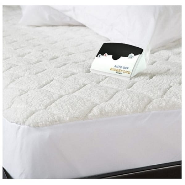 Shop Biddeford Quilted Sherpa Electric Heated Mattress Pad