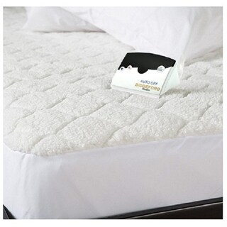 Biddeford Quilted Sherpa Electric Heated Mattress Pad California King