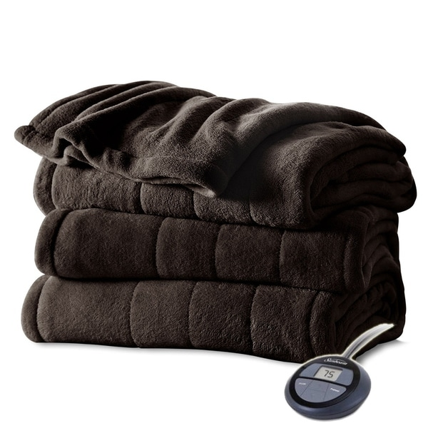 Shop Sunbeam Heated Electric Blanket Channeled Microplush