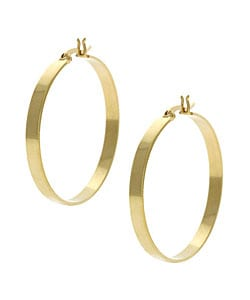 Mondevio 18k Gold over Sterling Silver Large Hoop Earrings