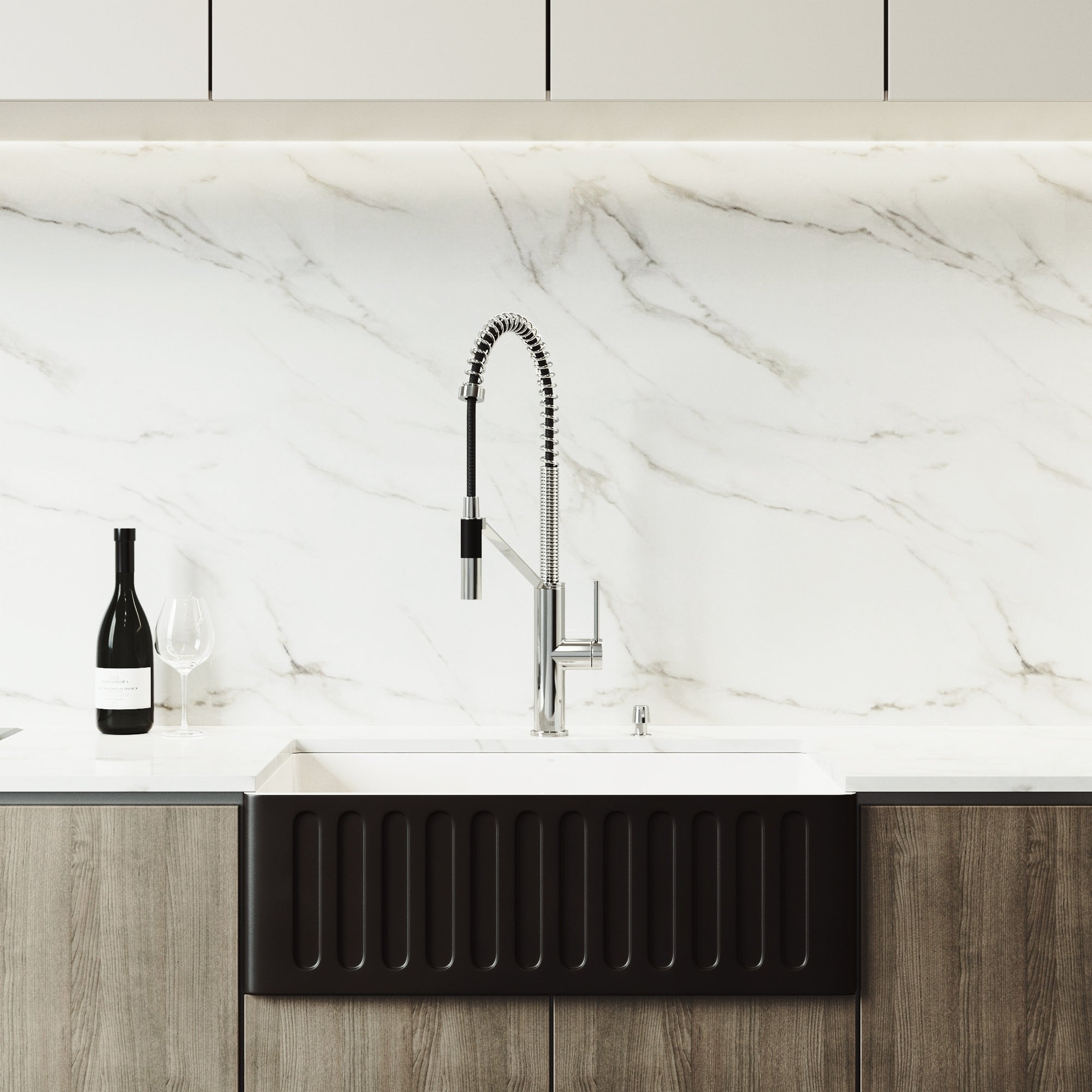 Vigo Black Kitchen Sink Set And Livingston Magnetic Kitchen Faucet Overstock 25416547