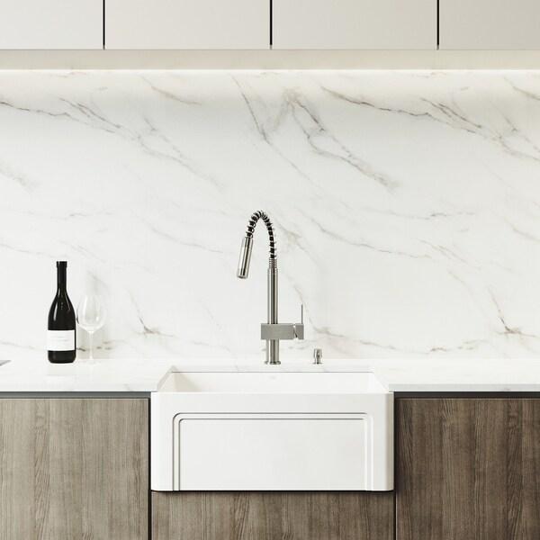 Shop VIGO 24-inch Kitchen Sink Set with Lincroft Pull-down ...