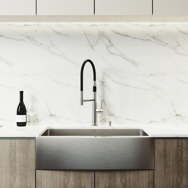 Kitchen Sink Set: Shop VIGO Bedford Stainless Steel Kitchen Sink Set With