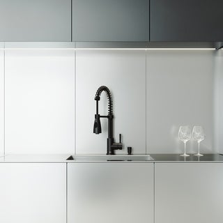 VIGO Ludlow Stainless Steel Kitchen Sink Set with Brant Faucet