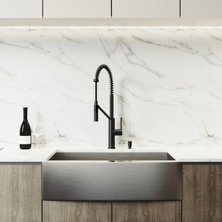 VIGO Camden Stainless Steel Kitchen Sink Set and Livingston Faucet