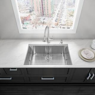 Single bowl kitchen sinks for less overstock vigo 32 inch undermount stainless steel single bowl kitchen sink with soundabsorb technology workwithnaturefo