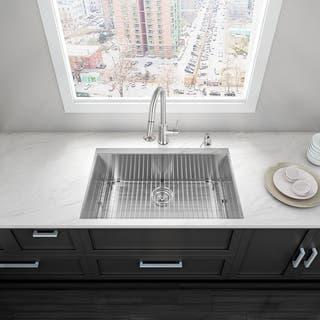 Undermount kitchen sinks for less overstock vigo 32 inch undermount stainless steel single bowl kitchen sink with soundabsorb technology workwithnaturefo