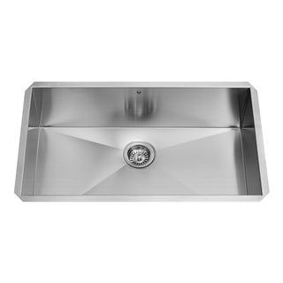 VIGO 32-inch Undermount Stainless Steel 16 Gauge Single Bowl Kitchen Sink