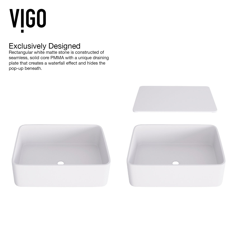 Shop Vigo Jasmine Vessel Bathroom Sink Set With Aldous Wall Mount