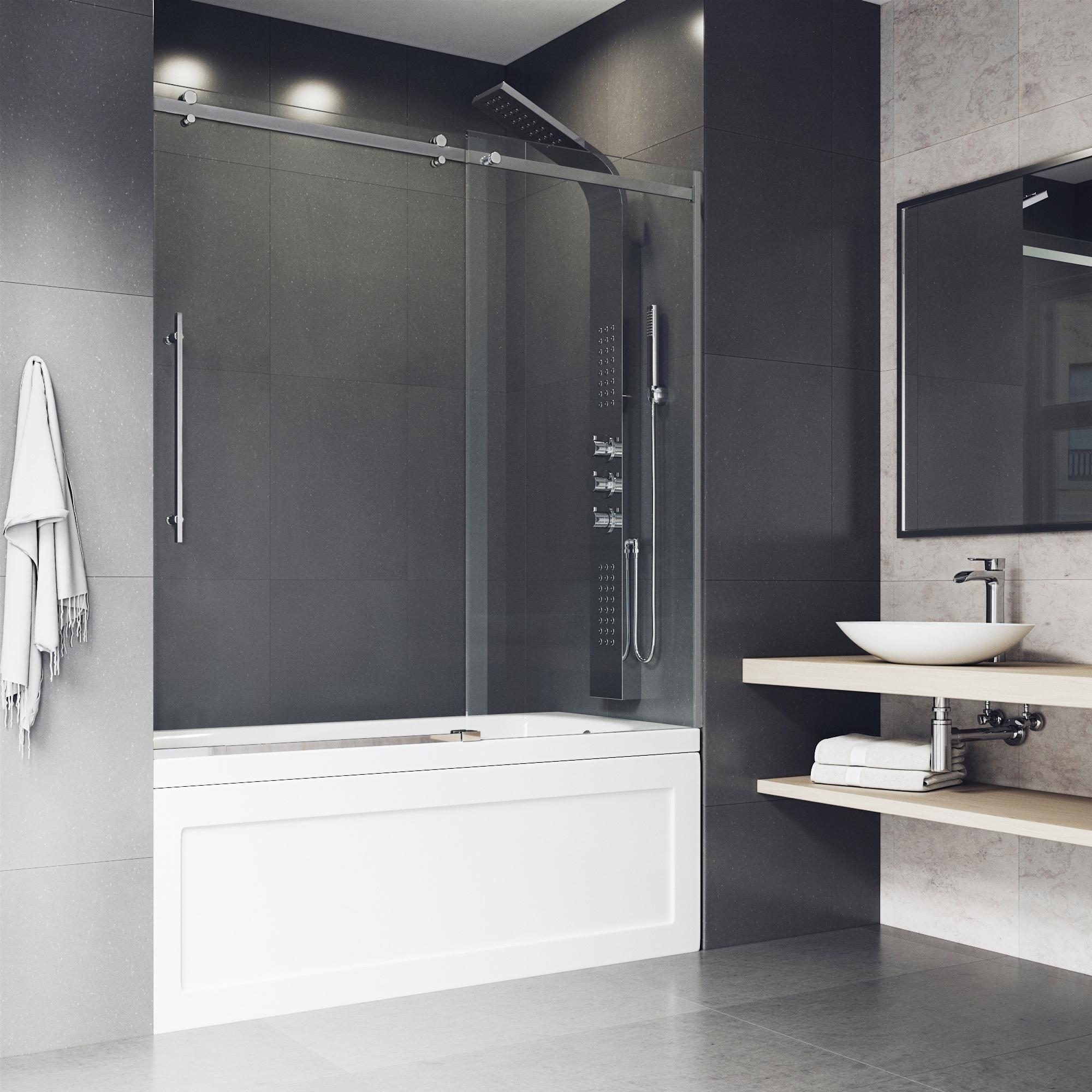 Vigo Luca Adjustable Frameless Sliding Tub Door