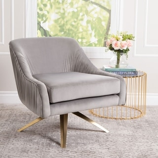 Link to Abbyson Giana Glam Velvet Swivel Chair Similar Items in Accent Chairs
