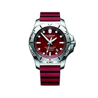 Victorinox I.N.O.X. Red Dial Rubber-Silicone Strap Men's Watch 241736