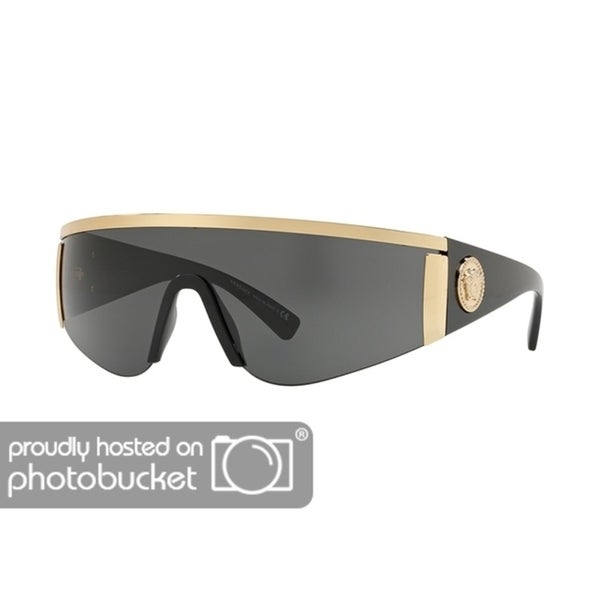 b9744197404 Shop Versace VE2197 Unisex Gold Frame Grey Lens Sunglasses - Free Shipping  Today - Overstock - 25416770