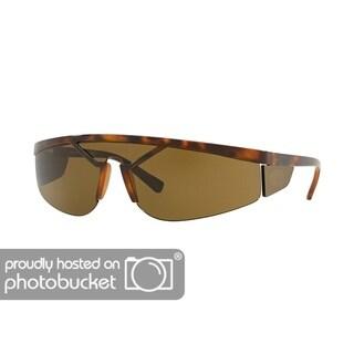Versace VE4349 Unisex Havana Frame Brown Lens Sunglasses