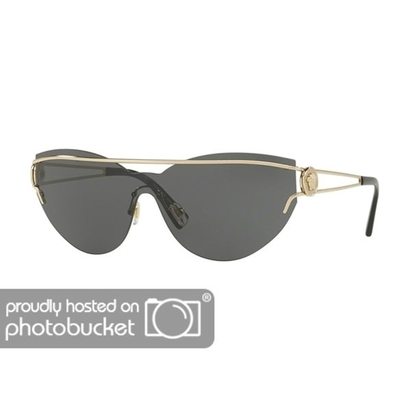 170c76c8bd28d Shop Versace VE2186 Woman Pale Gold Frame Grey Lens Sunglasses - Free  Shipping Today - Overstock - 25416790