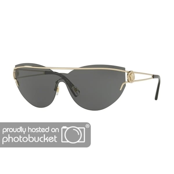 11b3991885e3 Shop Versace VE2186 Woman Pale Gold Frame Grey Lens Sunglasses - Free  Shipping Today - Overstock.com - 25416790