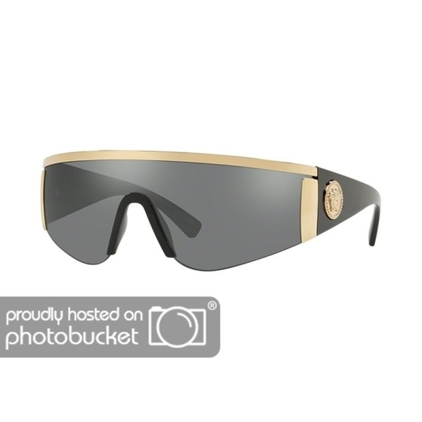 02a10d7f54 Shop Versace VE2197 Unisex Gold Frame Grey Mirror Silver Lens Sunglasses - Free  Shipping Today - Overstock - 25416792
