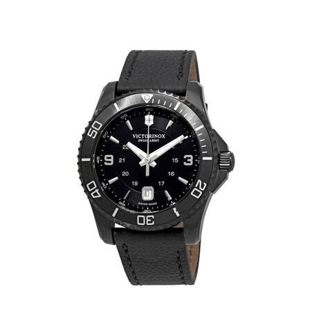 Victorinox Maverick Black Dial Leather Strap Men's Watch 241787