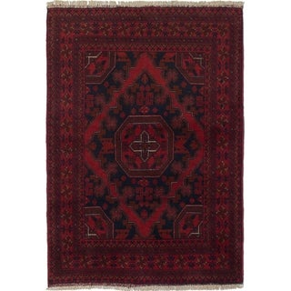ECARPETGALLERY  Hand-knotted Finest Khal Mohammadi Red Wool Rug - 3'5 x 4'8