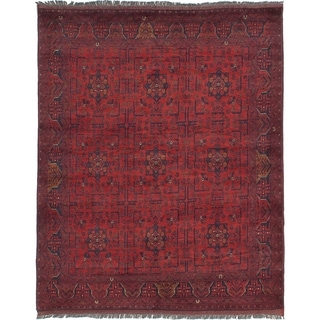 ECARPETGALLERY  Hand-knotted Finest Khal Mohammadi Dark Red Wool Rug - 5'1 x 6'4