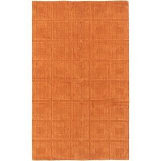 ECARPETGALLERY  Hand-knotted Luribaft Gabbeh Riz Burnt Orange Wool Rug - 5'0 x 8'2
