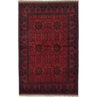 ECARPETGALLERY  Hand-knotted Finest Khal Mohammadi Red Wool Rug - 4'2 x 6'8