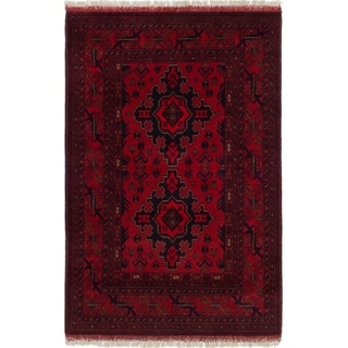 ECARPETGALLERY  Hand-knotted Finest Khal Mohammadi Red Wool Rug - 3'2 x 4'11