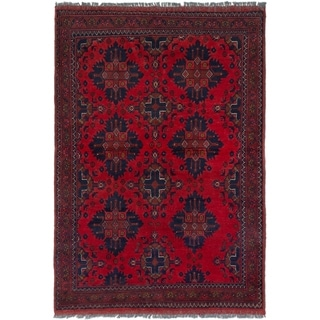 ECARPETGALLERY  Hand-knotted Finest Khal Mohammadi Red Wool Rug - 3'2 x 4'9