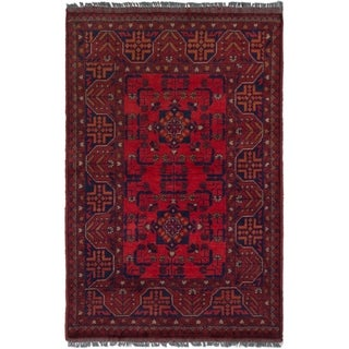 ECARPETGALLERY  Hand-knotted Finest Khal Mohammadi Red Wool Rug - 3'1 x 5'0