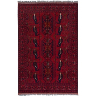 ECARPETGALLERY  Hand-knotted Finest Khal Mohammadi Red Wool Rug - 3'4 x 5'0