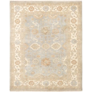 ECARPETGALLERY  Hand-knotted Royal Ushak Grey Wool Rug - 8'1 x 10'0